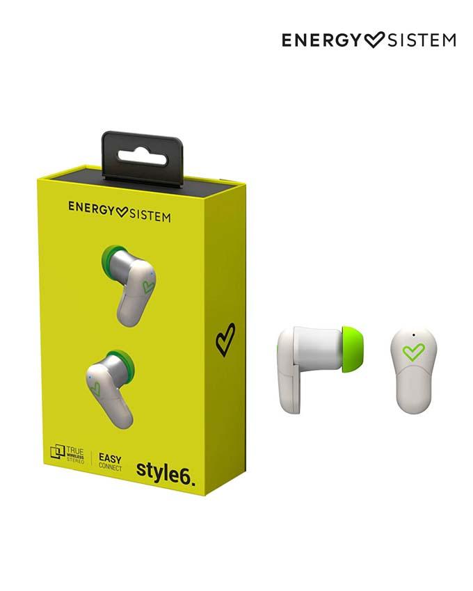 4b2cfd1538c Energy Sistem Earphones Style 6 True Wireless White (447329)